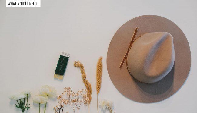 Çiçek Süslemeli Şapka Yapımı