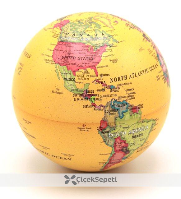 küre dünya haritası ışıklı