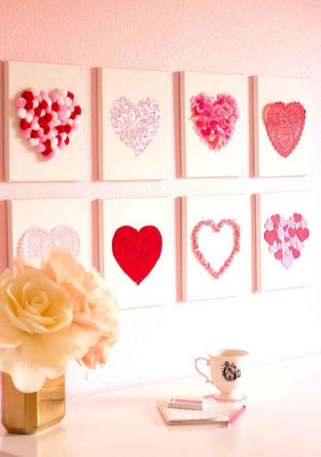 romantik duvar dekoru