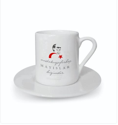 19 ayıs Tasarımlı Türk Kahvesi Fincanı