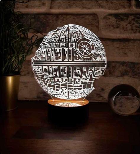 3 Boyutlu Star Wars Destroyed Hediye Led Gece Lambası