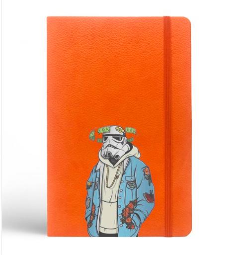 Star Wars Tasarımlı Turuncu Defter