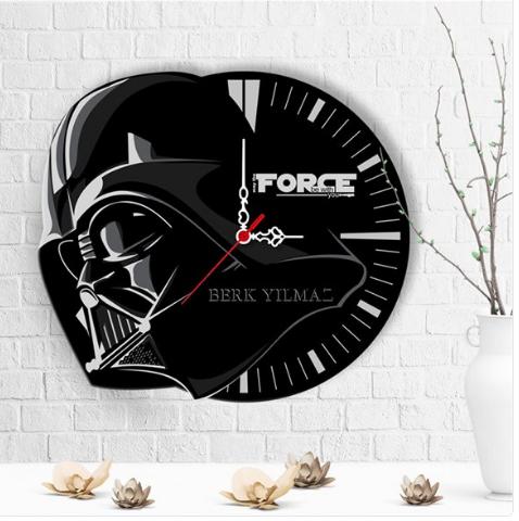 Kişiye Özel Star Wars Tasarımlı Ahşap Duvar Saati