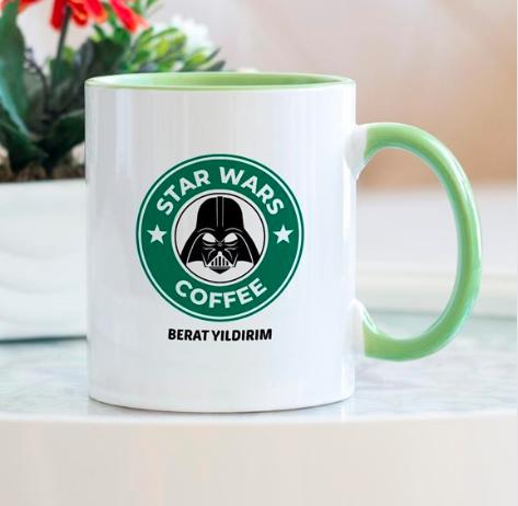 Star Wars Coffee Yeşil Kupa Bardak