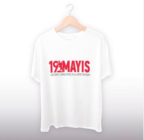 19 Mayıs Tasarımlı Tişört