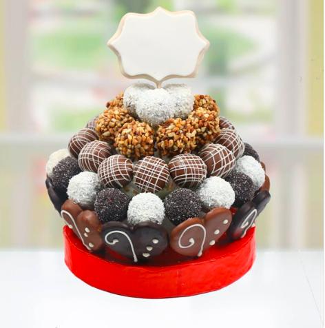 Kişiye Özel Çikolata Topları Truf Buketi