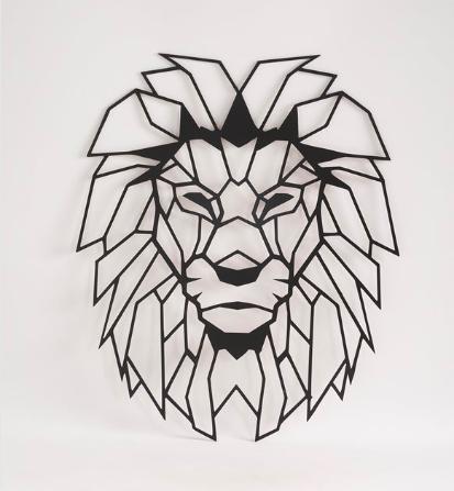 Ahşap Aslan Başı Duvar Dekoru