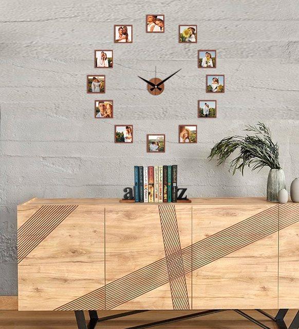 Ev dekorasyonu - fotoğraflı saat
