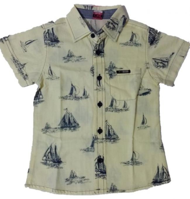 Gemi desenli gömlek