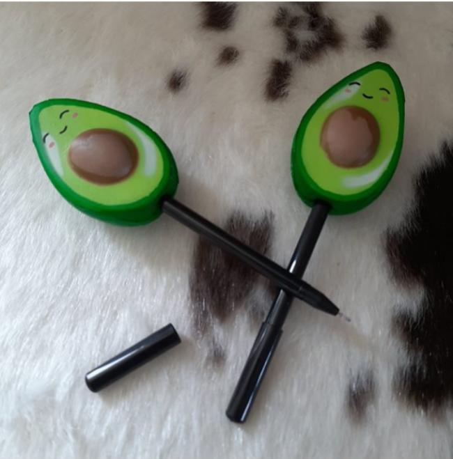 Avokado desenli tükenmez kalem