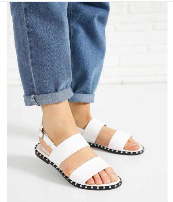 Pin taban kadın sandalet