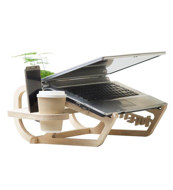 Evde bilgisayar başında çalışanlar için Laptop standı
