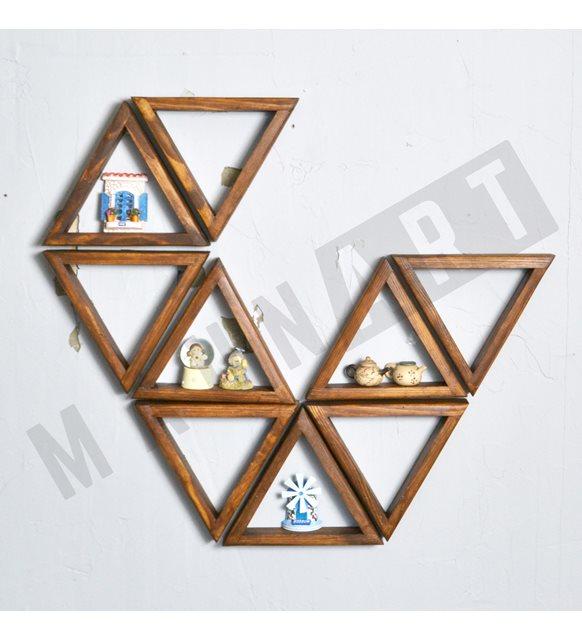 Üçgen dekoratif duvar rafı