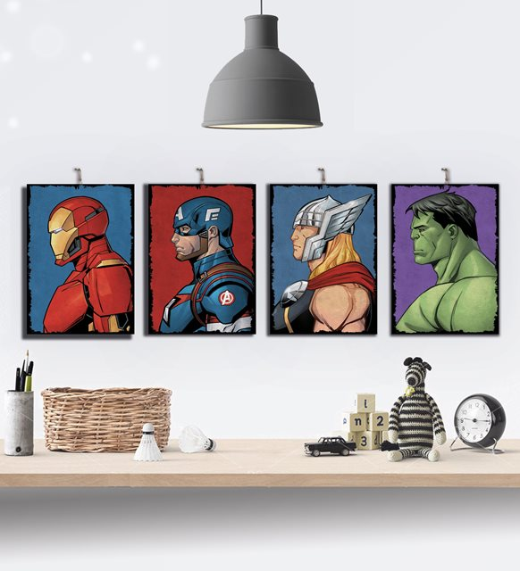 Marvel Avengers tablo seti