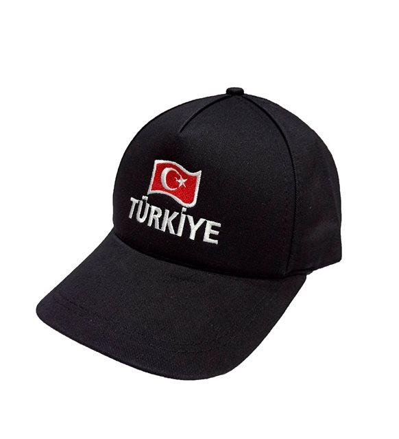 Bayrak nakışlı şapka