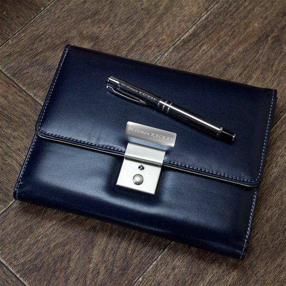 Çantalı ajanda ve kalem seti