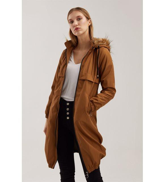 Kapüşonlu palto