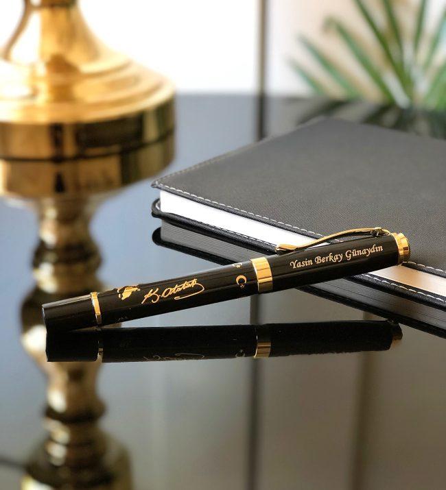 Yaldız kabartmalı kalem