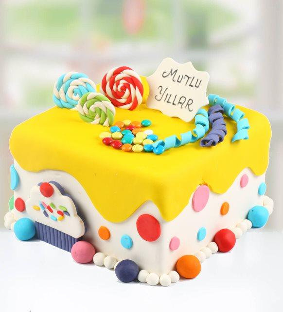 Lolipop mutlu yıllar pasta