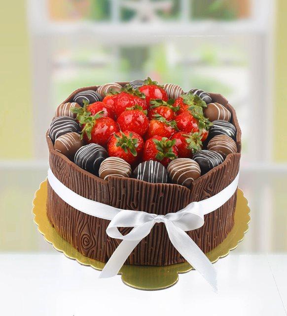 Çikolatalı Çilekli Pasta