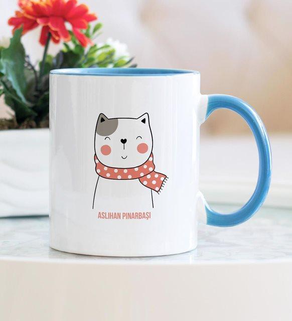 Sevimli kedi kupa bardak