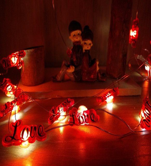 Sevgililer günü ev dekorasyonu - led ışık