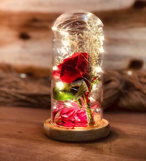 Sevgililer günü ev dekorasyonu - fanus
