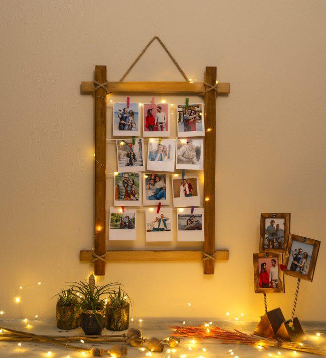 Sevgililer günü ev dekorasyonu - fotoğraf çerçevesi