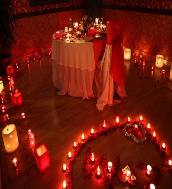 Sevgililer günü ev dekorasyonu - ev seti