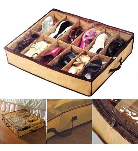 Ayakkabı depolama fikirleri - yatak altı düzenleyici