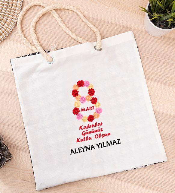Kadınlar Günü mesajları ve hediyeler-   bez çanta