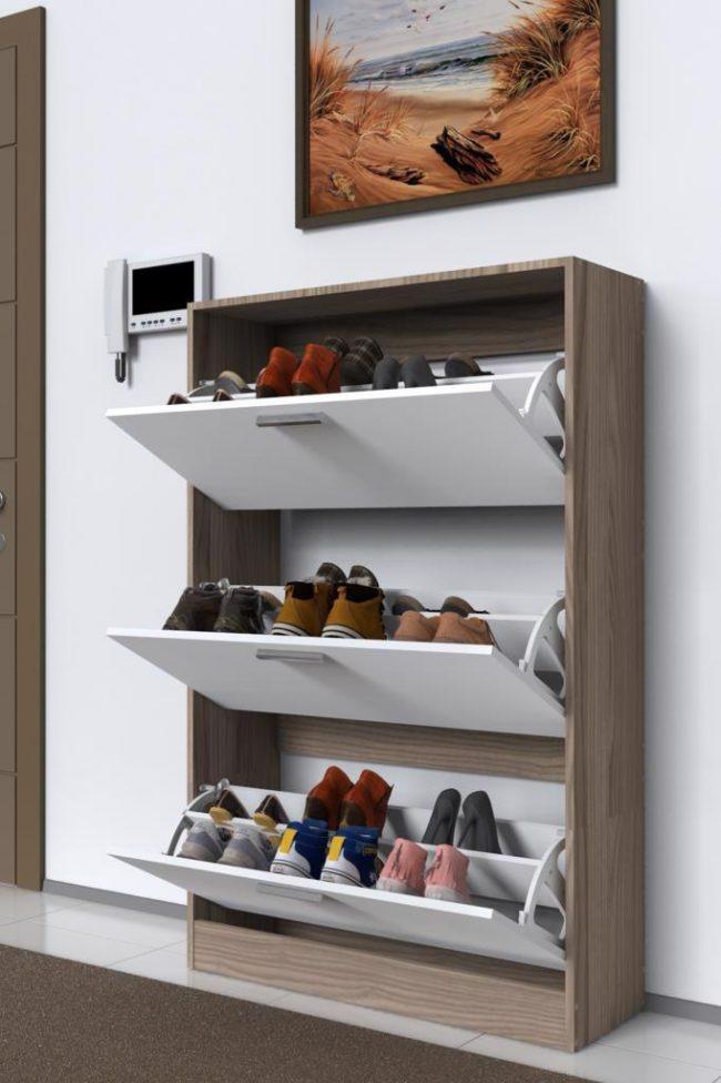 Ayakkabı depolama fikirleri - çekme ayakkabılık
