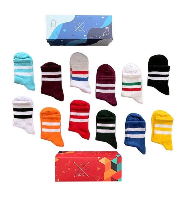 Çift çizgili çorap
