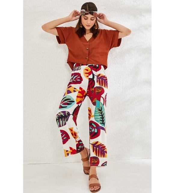 Bayrama özel kıyafet önerileri - desenli pantolon
