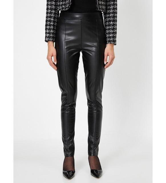 Monokrom giyim - Deri pantolon