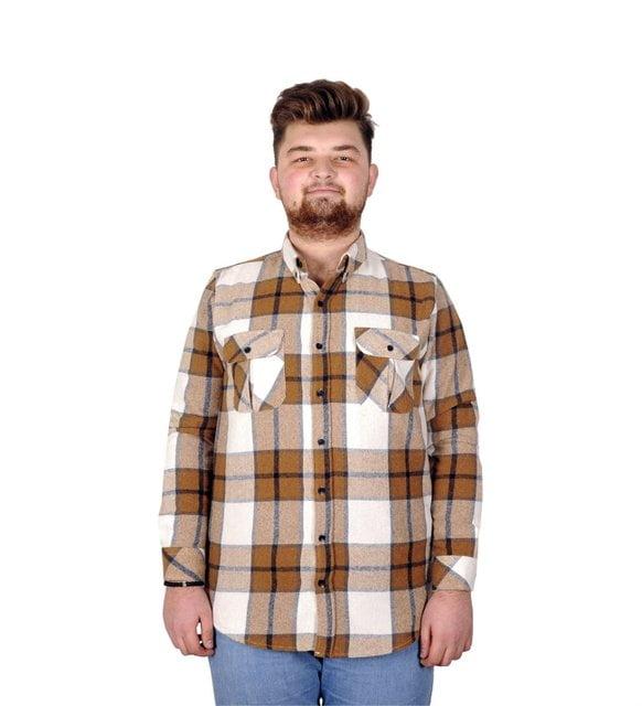 Büyük beden erkek giyim - Oduncu gömlek