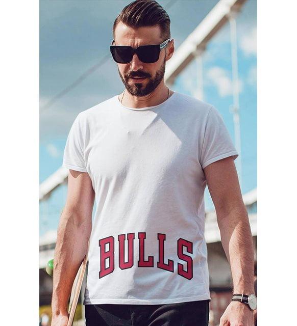 Büyük beden erkek giyim - Bulls tişört
